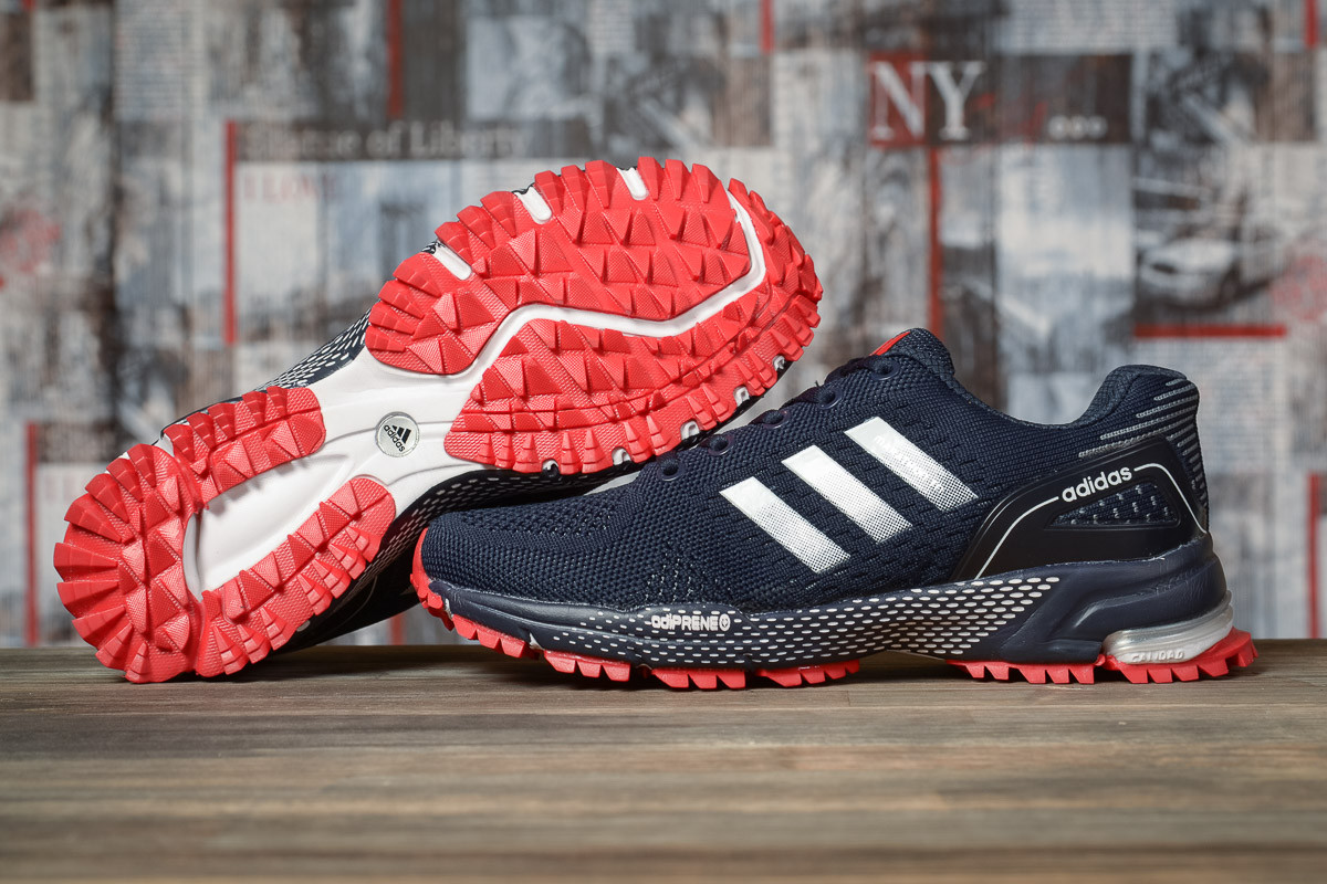 Купить Кроссовки женские Adidas Marathon TN синие, АдиДас Марафон, дышащий материал, прошиты. Код DO-16915 40