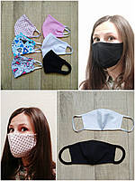 Защитная двухслойная многоразовая маска, фото 1