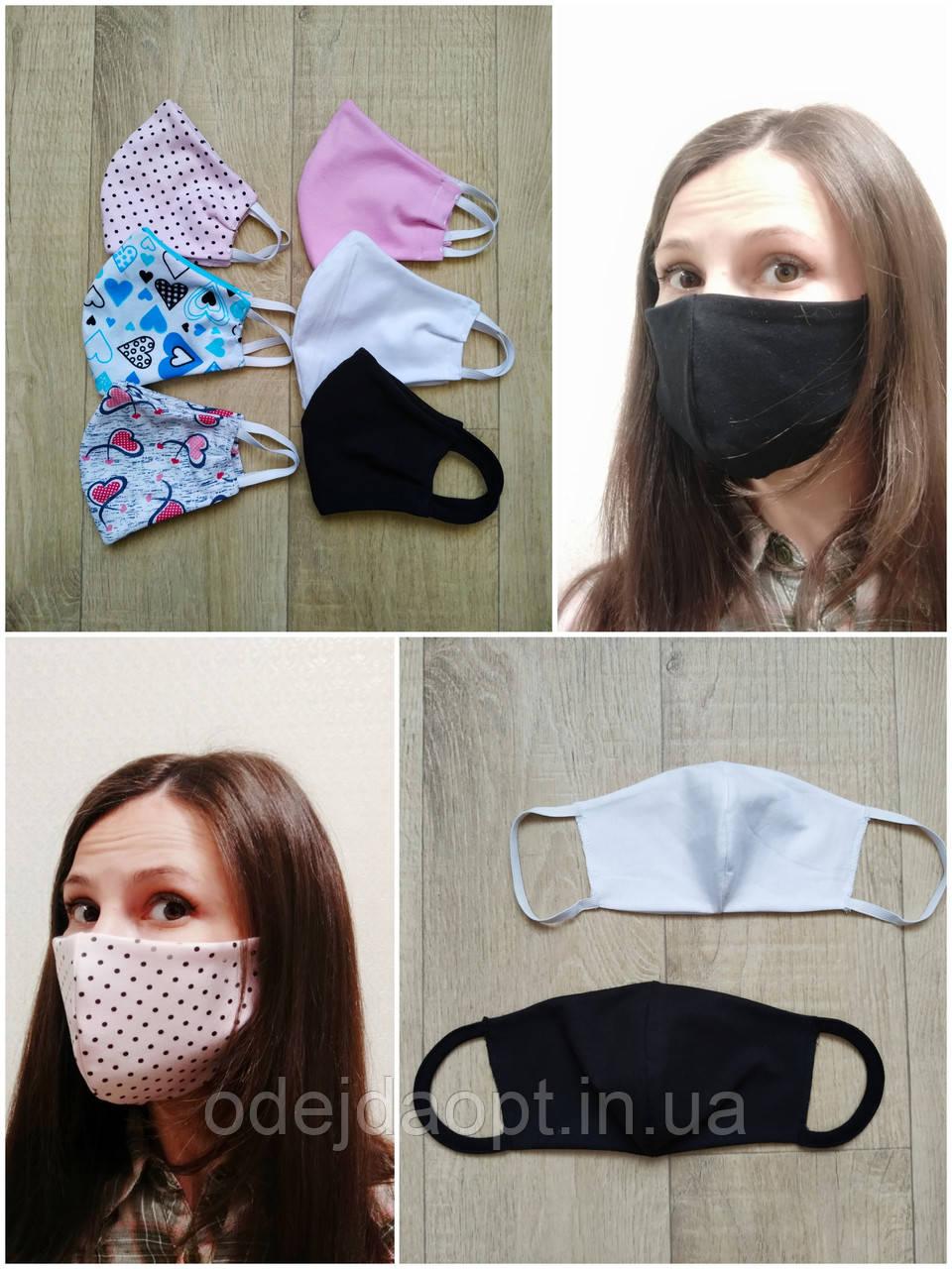 Защитная двухслойная многоразовая маска