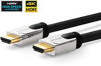 Кабель HDMI Vivolink 1м,с металическим корпусом разьема, HDMI 2.0, 4K - 2K 60Hz, 18Gb/ s, ARC, 3D, HDCP, CEC, ультра гибкий (PROHDMIHDM1)