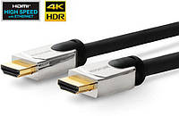 Кабель HDMI Vivolink 1,5м, с металическим корпусом разьема, HDMI 2.0, 4K - 2K 60Hz, 18Gb/ s, ARC, 3D, HDCP, CEC, ультра гибкий (PROHDMIHDM1.5)