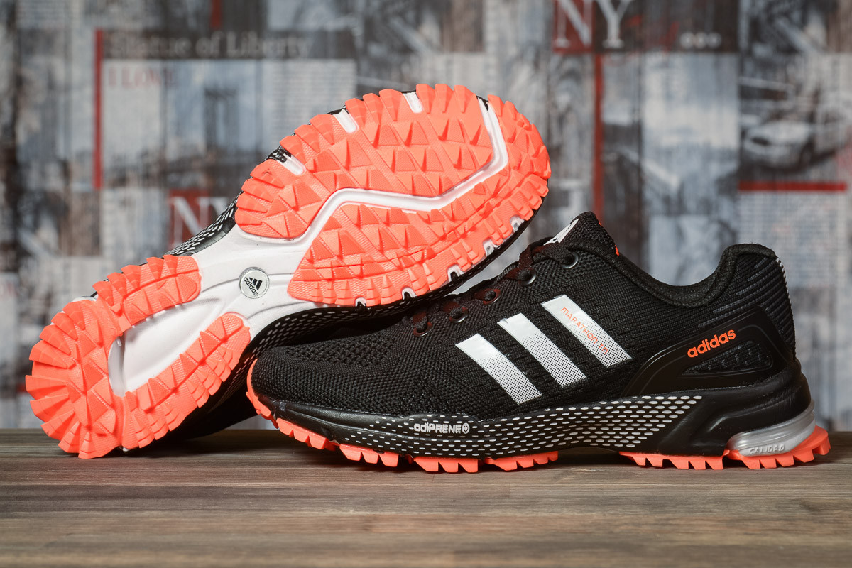 Купить Кроссовки женские Adidas Marathon TN черные, АдиДас Марафон, дышащий материал, прошиты. Код DO-16916 40