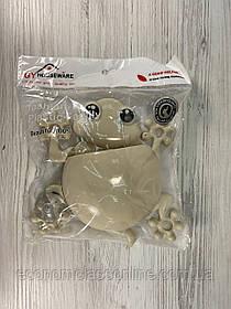 Диспенсер для зубной щетки пластиковый на присосках Жабка