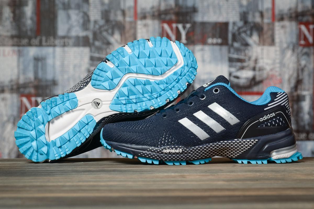 Купить Кроссовки женские Adidas Marathon TN синие, АдиДас Марафон, дышащий материал, прошиты. Код DO-16918 40