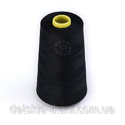Нитки швейні 40/2, 4000 ярдів, чорного кольору