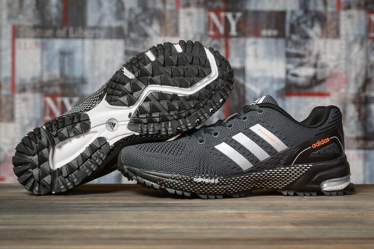 Купить Кроссовки женские Adidas Marathon TN серые, АдиДас Марафон, дышащий материал, прошиты. Код DO-16919 40