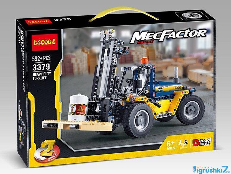 Конструктор Decool MecFactor 3379 Погрузчик 592 детали