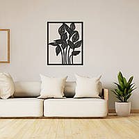 Деревянное интерьерное панно на стену «Растение», фото 1