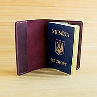 Обложка для паспорта из натуральной кожи Citizen бордовая