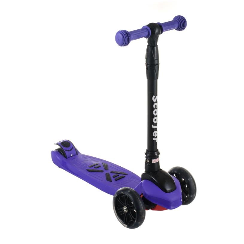 Детский самокат SF508, складной руль, колеса PU светятся, 130 мм, ручной тормоз, цвет фиолетовый
