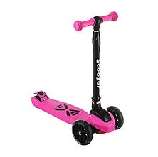 Детский самокат SF508, складной руль, колеса PU светятся, 130 мм, ручной тормоз, цвет фиолетовый, фото 2