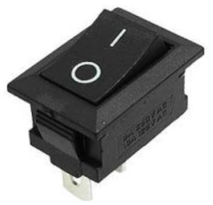 Кнопка, выключатель, тумблер 2 положения 2 контакта. 21*15 мм. 1 шт.