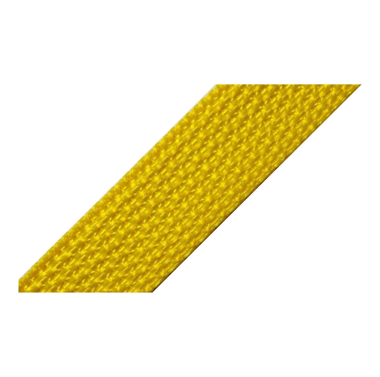Лента ременная 100% Полипропилен 20мм цв желтый (боб 50м)  Укр-з