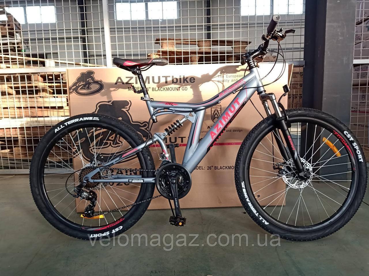 """Велосипед гірський AZIMUT Blackmount 24"""", рама 16"""", сірий"""