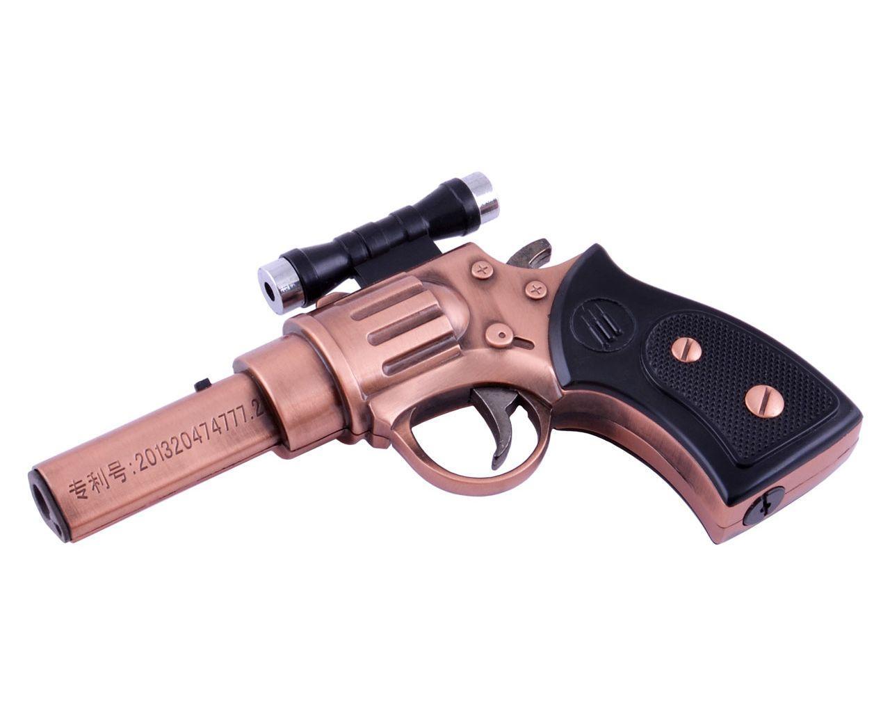 Сувенирный Револьвер-зажигалка (Турбо пламя, Лазер)