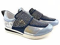 Кроссовки для девочек кожаные голубые Tiflani Турция р.(31,32,33,34,35,36) 32, 32