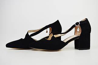 Туфли Sufinna 57061 Черные замш-велюр, фото 3