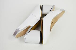Босоножки с острым носком Geronea 60801 Белые кожа, фото 3