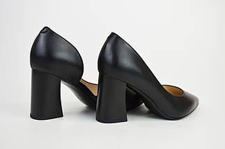 Туфли на каблуке Geronea 41821 Черные кожа, фото 3