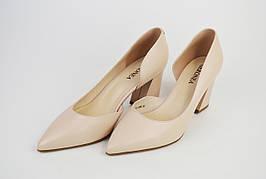Туфли на каблуке Geronea 41821 Пудра кожа