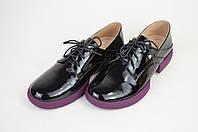 Туфли городские Geronea 5990158 Черно-фиолетовые