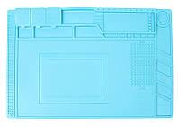 Коврик для рабочего стола (450 х 300) Blue, антистатический, термостойкий