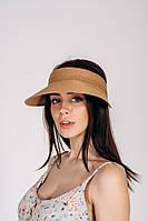 Кепки прозрачные Кепка соломенная Нэнси песочная One size (SHL-2030)