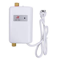 Проточный водонагреватель Xinye XY-FG мгновенный подогрев с LCD индикатором температуры 3800 Вт IPX4