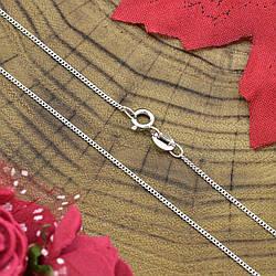 Серебряная цепочка Панцирная длина 40 см ширина 1 мм вес 1.24 г