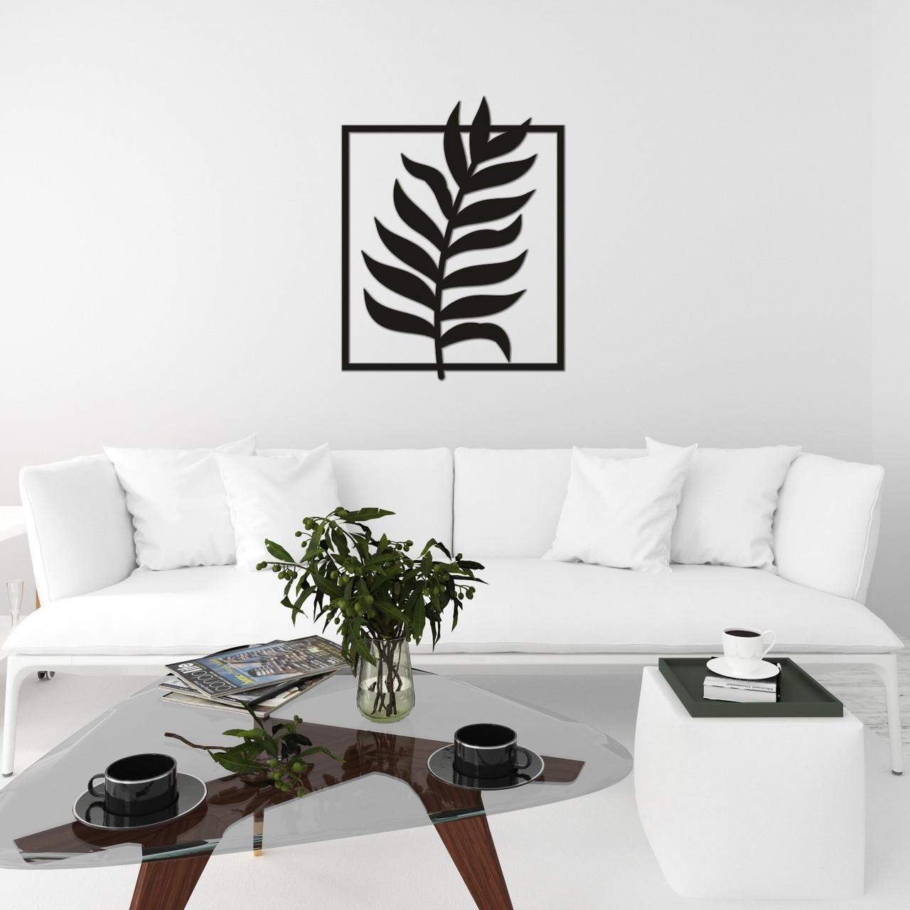 Современная настенная абстракция из дерева «Веточка»