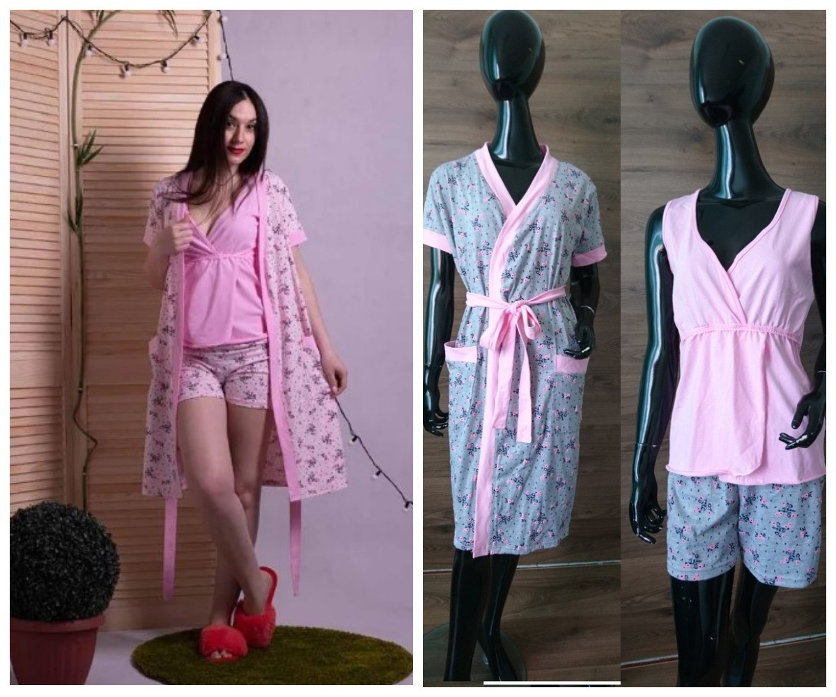 Комплект халат с пижамой