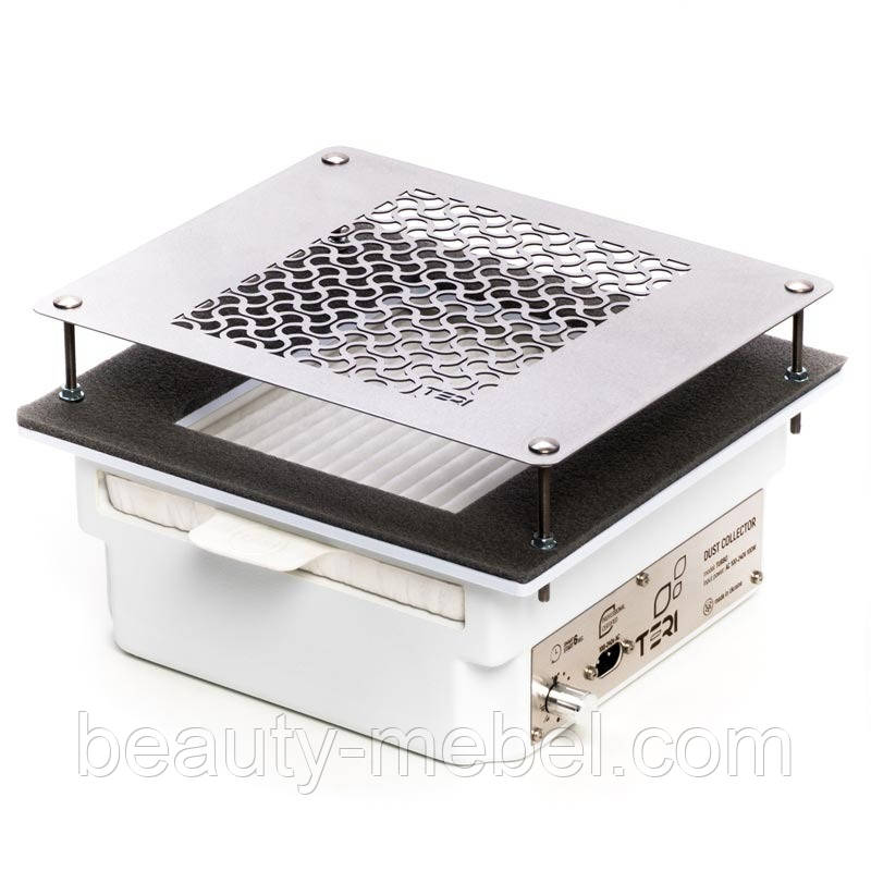 Teri 600 профессиональная встраиваемая маникюрная вытяжка с HEPA фильтром (нержавеющая сетка)
