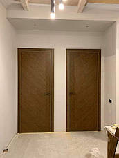 Двери FUSION F-44 Полотно+коробка+2 к-та наличников+добор 90мм, шпон, фото 2