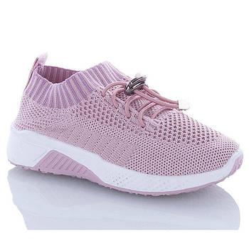 Кроссовки детские легкие летние для девочки. Слипоны дышащие на лето 29 размер (розовые)