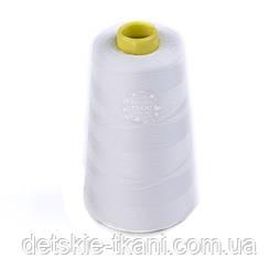 Нитки швейні 40/2, 4000 ярдів, білого кольору (301)