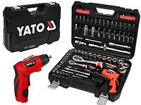 Набор инструментов Yato 100 пр YT-12685 + аккумуляторная отвертка 3.6 В (Польща)