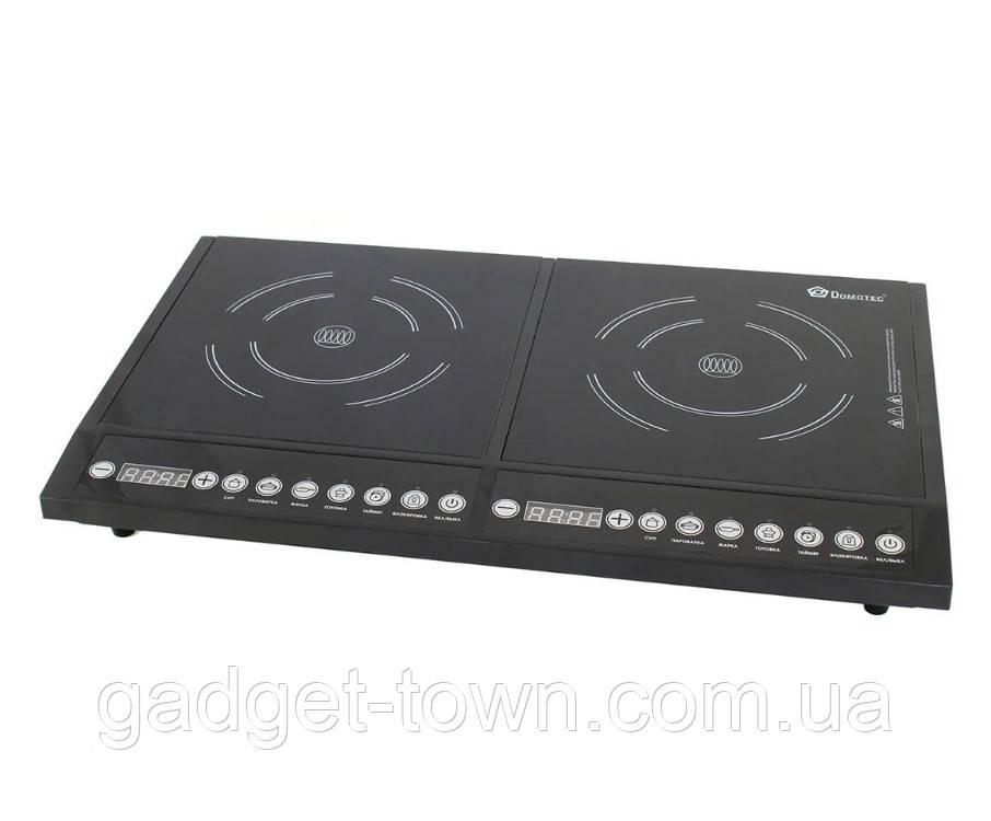 Індукційна електроплитка Domotec MS-5862 на 2 конфорки 4000W