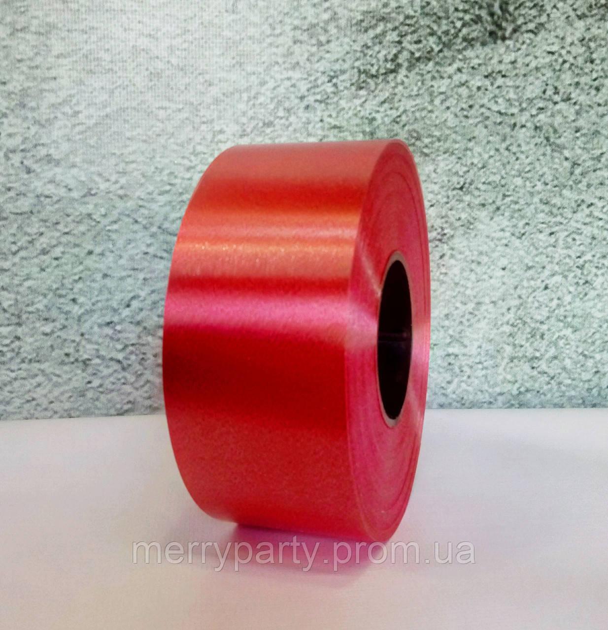 Лента полипропиленовая красная ш. 5 см (82 м)