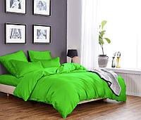 Однотонное постельное белье из сатина салатового цвета