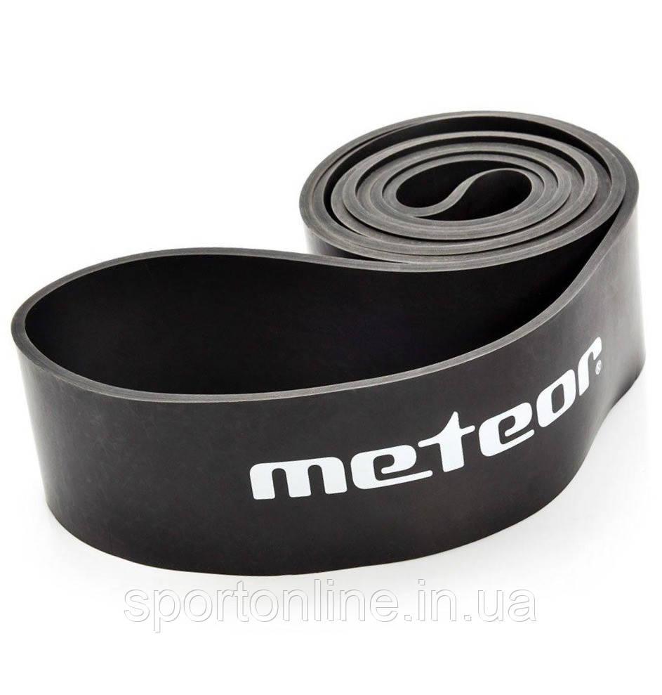 Тренажер-эспандер ленточный Meteor Rubber Band, extra heavy, нагрузка 37-45 кг, черный
