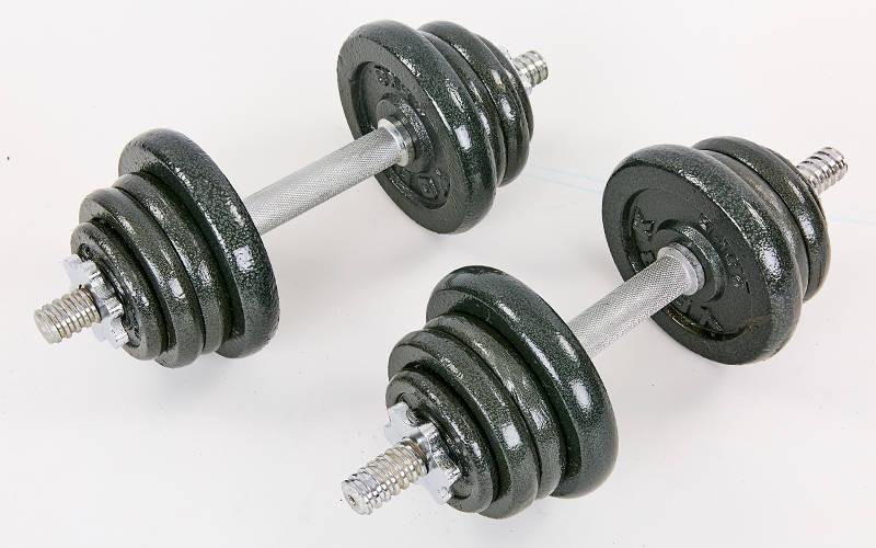 Гантелі розбірні (2шт х 12,5 кг ) сталеві 25кг TA-8213-25