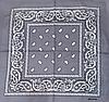 Классическая бандана, 55*55 см, серый