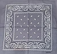 Классическая бандана, 55*55 см, серый, фото 1