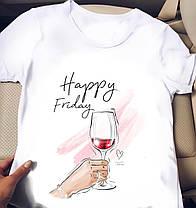 Белая женская футболка с крутыми картинками, фото 2