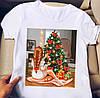 Белая женская футболка с крутыми картинками, фото 4