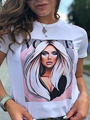 Белая футболка с крутыми принтами новые рисунки 2021