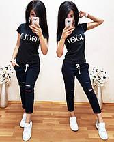 Женский летний костюм футболка и укороченные брюки VOGUE, фото 3