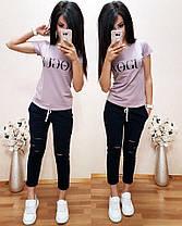 Женский летний костюм футболка и укороченные брюки VOGUE, фото 2