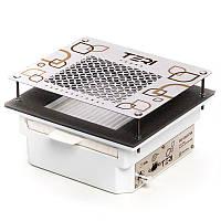 Teri Turbo профессиональная встраиваемая маникюрная вытяжка с HEPA фильтром (нержавеющая сетка с узором)