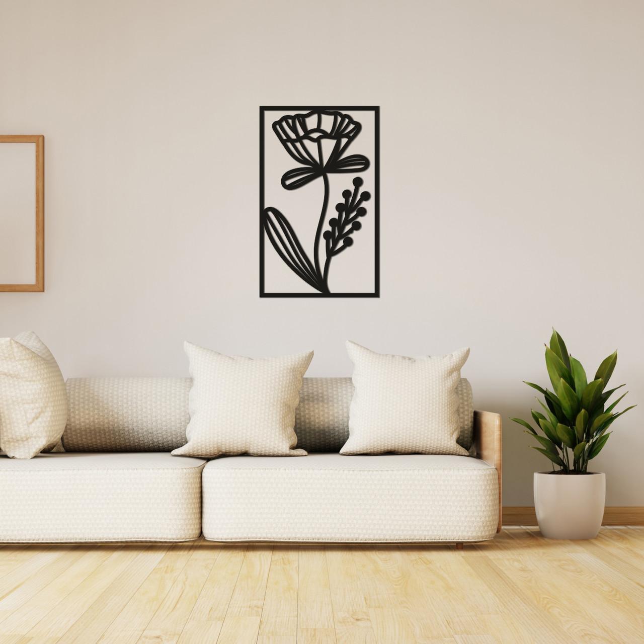 Декоративная настенная абстракция из дерева «Изящный цветок»